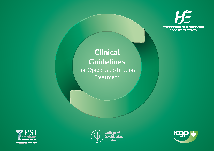 Clinical Guidelines for Opioid Substitution Treatment front page preview image
