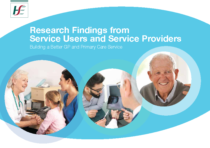 Research Findings from Service Users and Service Providers front page preview image