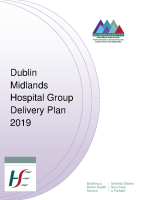 Dublin Midlands Hospital Group Operational Plan - Delivery Plan 2019 front page preview image
