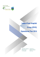 Ireland East Hospital Group Operational Plan - Delivery Plan 2019 front page preview image
