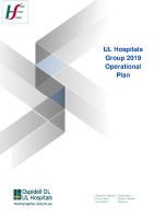 University of Limerick Hospital Group Operational Plan - Delivery Plan 2019 front page preview image