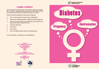 Contraception and Pregnancy for Women with Diabetes front page preview
