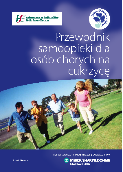 Self-care Guide for People with Diabetes - Polish front page preview