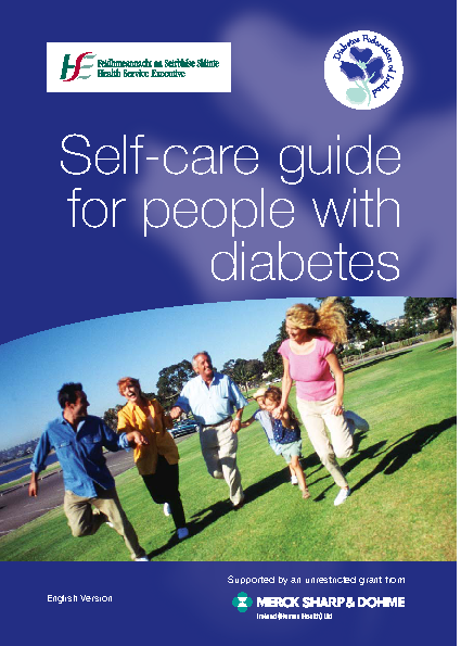 Self-care Guide for People with Diabetes front page preview