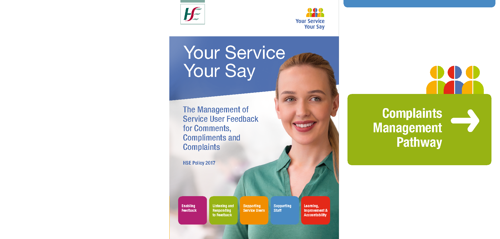 'Your Service, Your Say' The Policy for the Management of Consumer Feedback to include Comments, Compliments and Complaints in the HSE front page preview