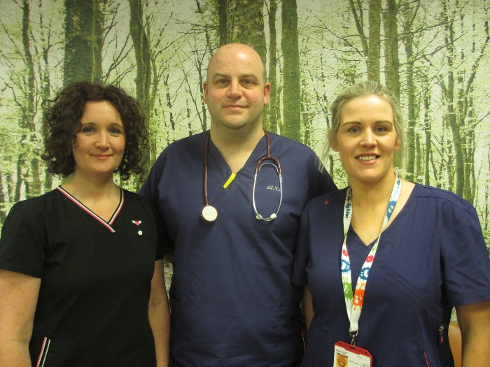 Advanced Nurse Practitioners  Karen Carragher, Anthony Dillon and Mary Savage.