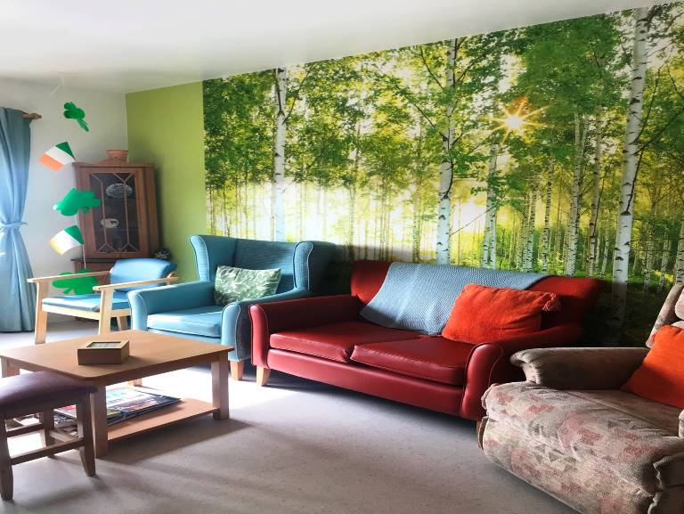 One of the cosy sitting rooms in the nursing unit.