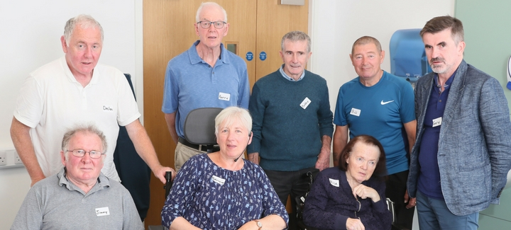Parkinson's Support Group, Declan Moriarty, Barry Kehoe, Bobby Warren, Bill Hughes, Gary Boyle, Jimmy Fitzgerald, Patricia O'Connor and Alice Roe
