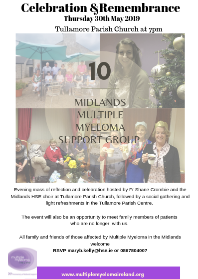 Midlands Multiple Myeloma Support celebrates 10 years - HSE ie