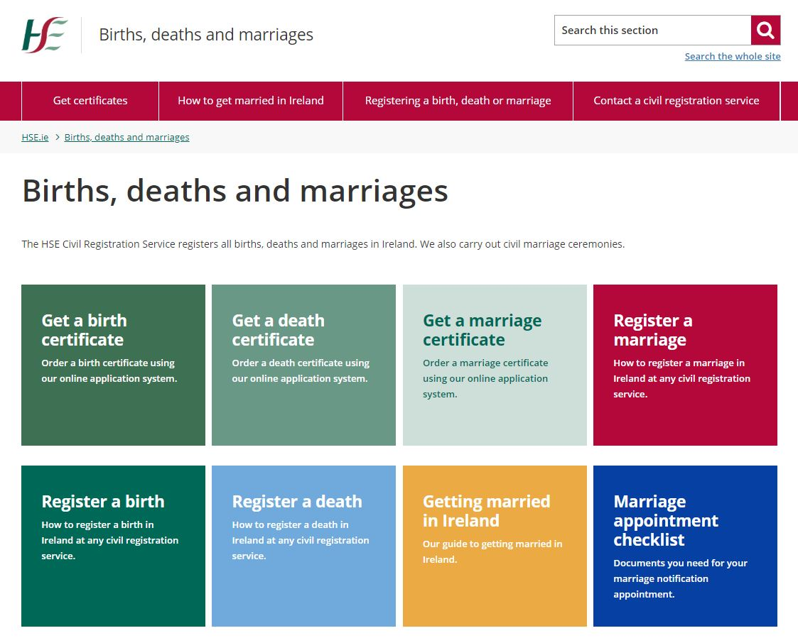 Split testing to improve our births, deaths and marriages