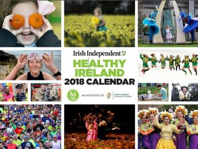 healthy ireland 2018 calendar image