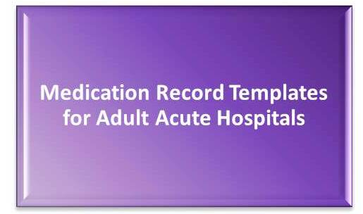 Medication Record Template Box