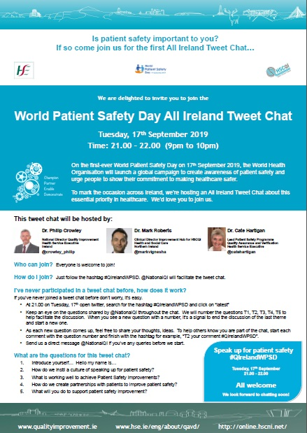 World Patient Safety Day Tweet Chat