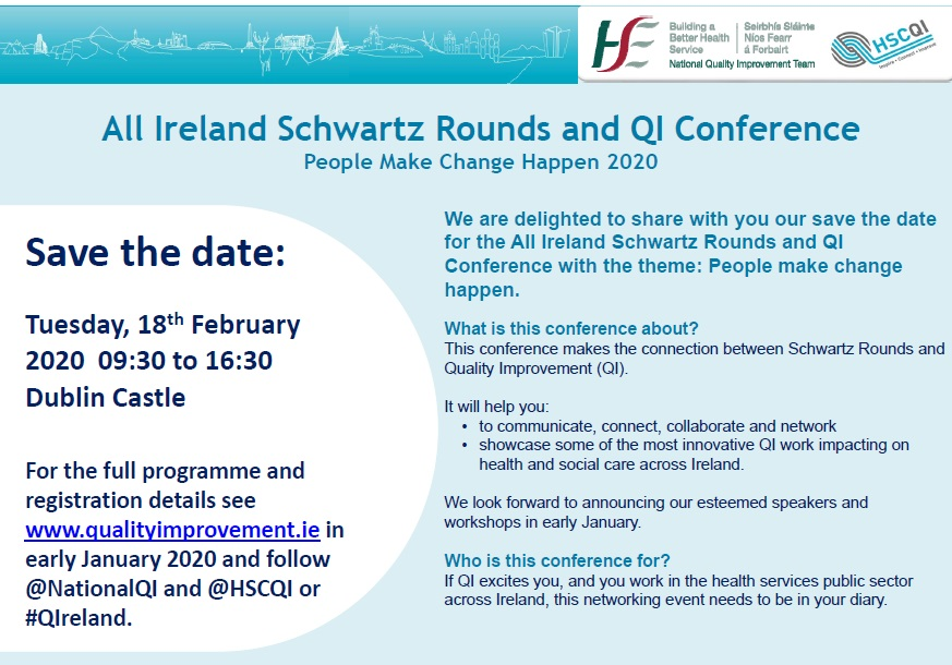 All Ireland Schwartz Rounds and QI Poster Dec 19