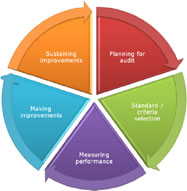 Clinical audit circle image