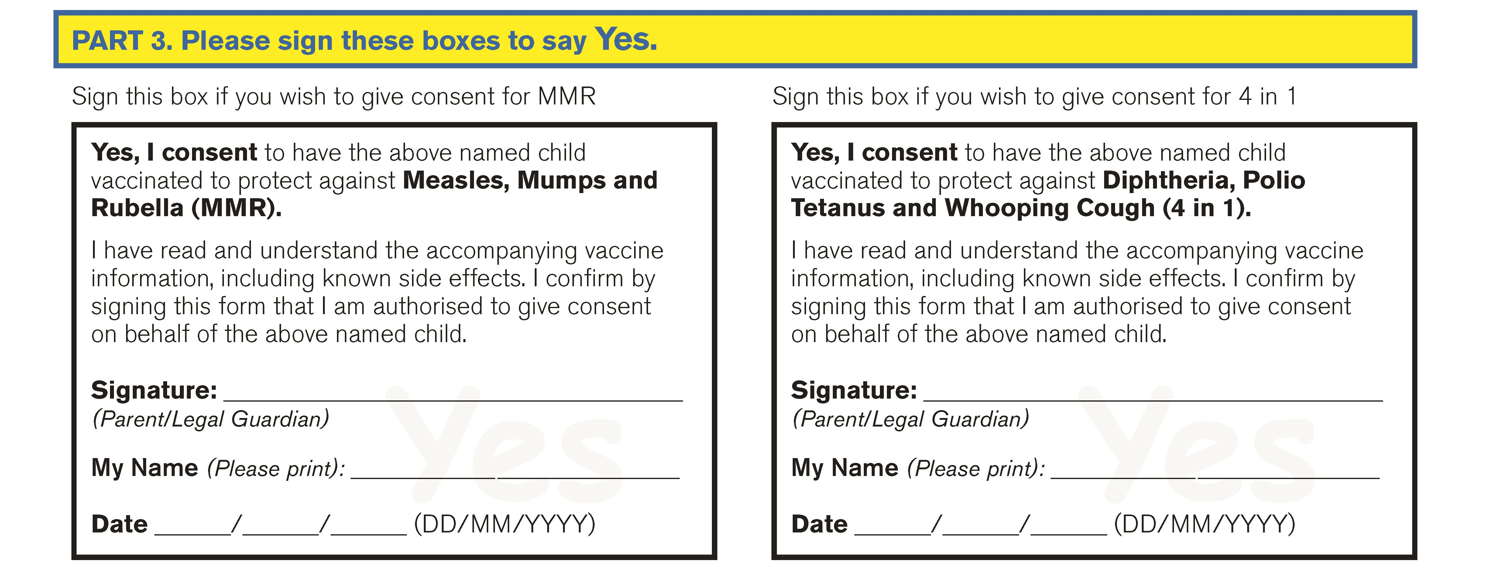 4 in 1 and mmr yes__. common queries about school consent forms hse ie