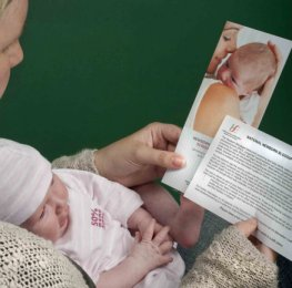 Parent reading information leaflet