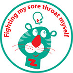 Fighting my sore throat sticker image