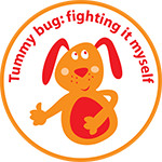 Fighting my tummy bug sticker