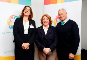 Anne O Connor, National Director for Mental Health, Minister Kathleen Lynch and Prof Harold Pincus