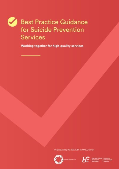 Best Practice Guidance for Suicide Prevention Services cover