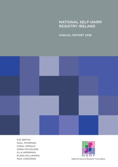 NSRF National Self-Harm Registry Ireland Annual Report 2018 cover