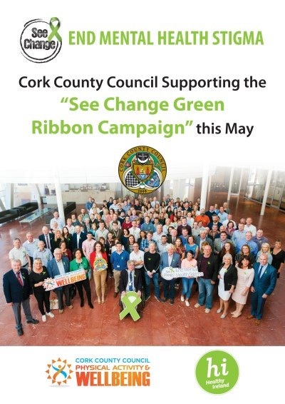 Cork Green Ribbon poster
