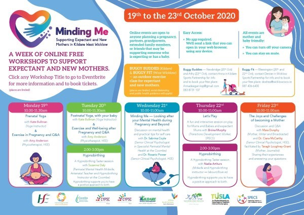 Perinatal Mental Health Week Minding Me poster