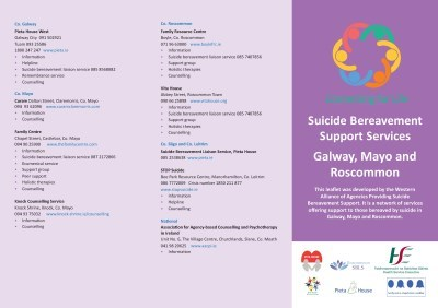 Suicide Bereavement Support Services GMR Cover