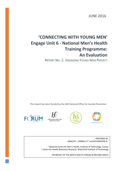 Connecting For Life  Mhfi Training Evaluation Report June