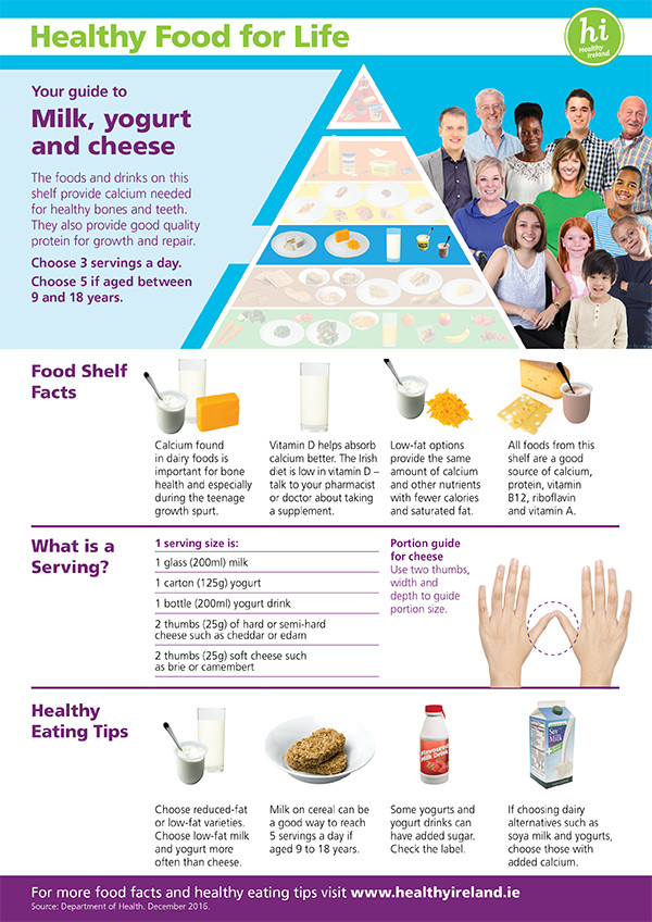 Milk-yogurt-cheese Food Pyramid_Shelf Fact Sheets
