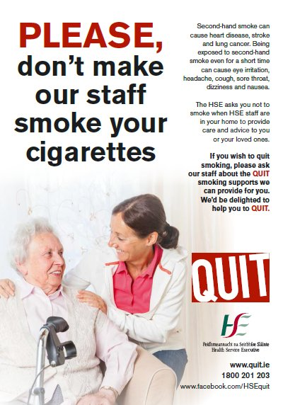 please don't make our staff smoke your cigarettes poster